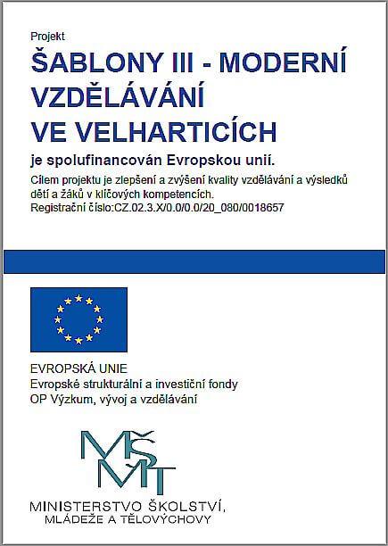Šablony III - Moderní vzdělávání ve Velharticích